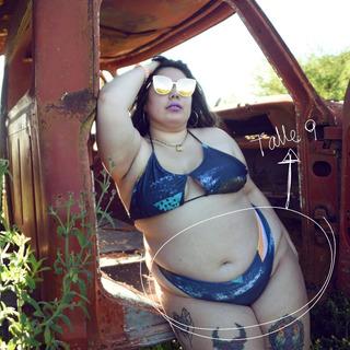 Bombacha Malla Bikini Tiro Medio Estampada