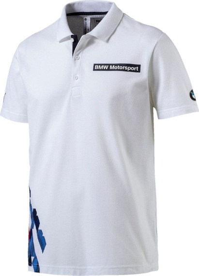 Playera Puma Hombre Blanco Bmw Msp Graphic Polo 57283302
