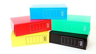 Caja Archivo Plástica Plana Oficio 12cm.color