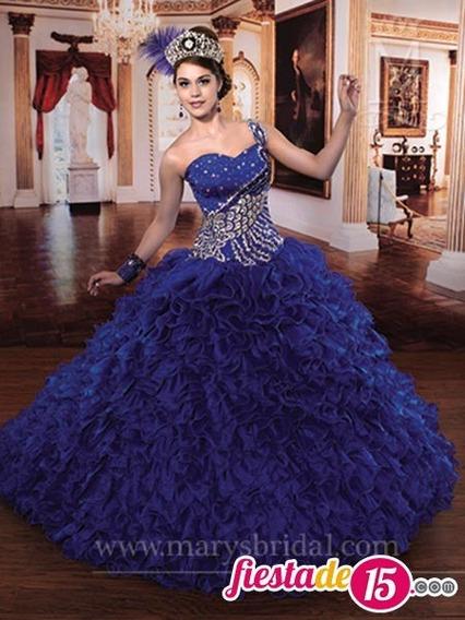 Hermoso Vestido De Quinceaños Color Azul Marino