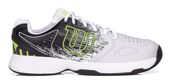 Tênis Wilson K Classic Branco Preto E Verde Limão