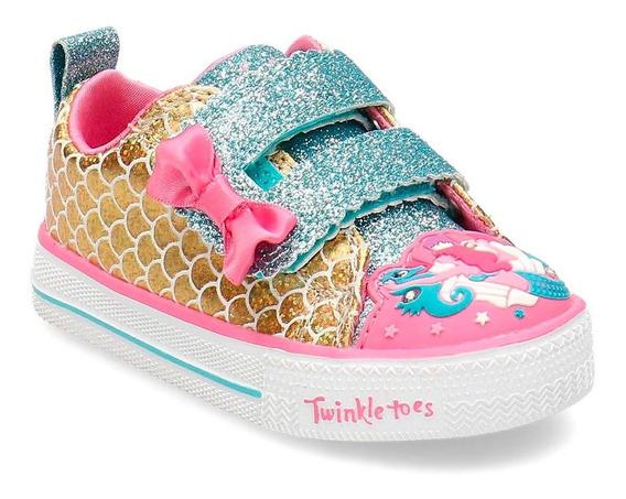 Tênis Infantil Skechers Twinkle Toes Mermaid Parade Led (21