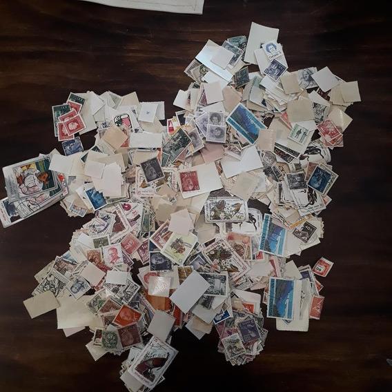 Caja Lote Estampillas + 2000 Sellos Universales Filatelia