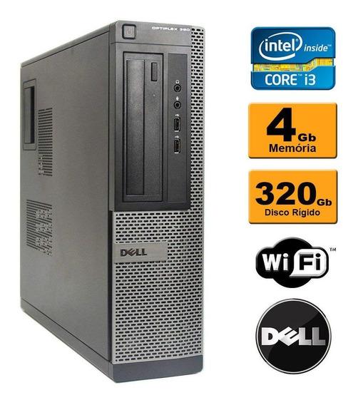 Desktop Cpu Dell Optiplex 990 I3 4gb 320gb Wi Fi