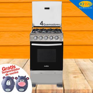 Cocina Mabe 4 Q Inox Enc Electrico Horno Gratis Temporizador
