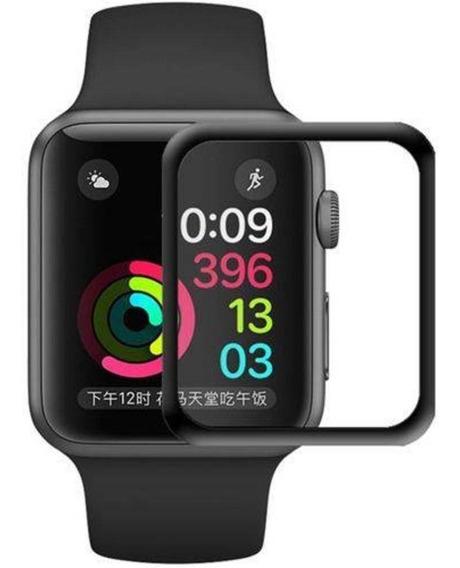 Película De Vidro Temperado 3d Apple Watch 40mm Preta