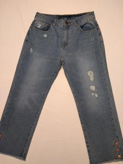 Calça Feminina Jeans Com Botões Rf.d557! Nova