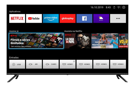 Smart Tv Led Philco 4k Uhd 50 Ptv50g70sblsg Youtube Netflix