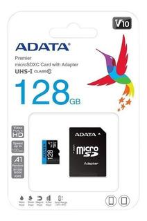 Memoria Micro Sd 128gb Clase 10 Adata Premier 100mb/s