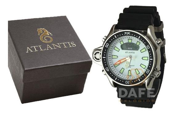 Relógio Atlantis A3220 Analogico Original C/ Caixa E Nf