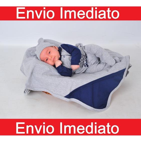 Kit Saída De Maternidade - 4 Peças Príncipe Luck Menino