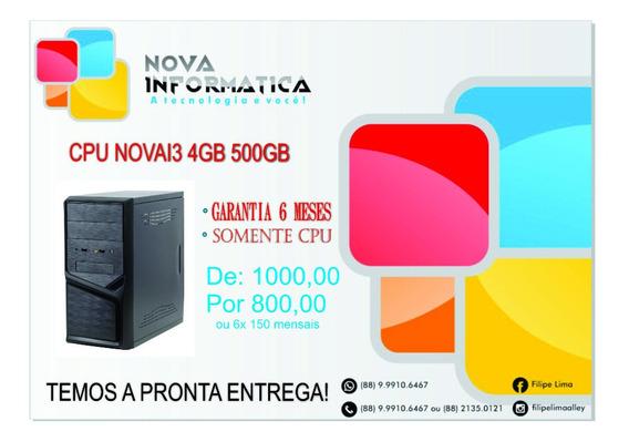 Cpu I3 4gb 500gb