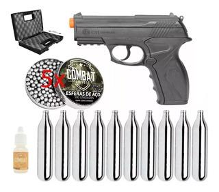 Kit Completo Pistola Pressão C11 Polímero + Acessórios