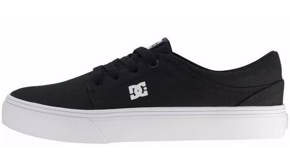 Tênis Feminino Preto Dc Shoes Trase Tx Black/white Original