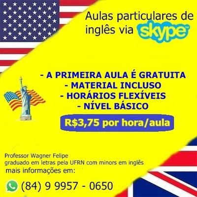 Aulas Particulares De Inglês Por Skype