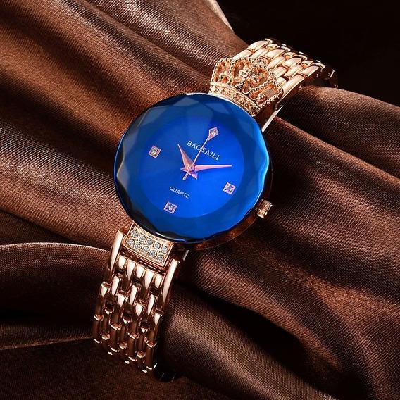 Relógio Feminino Luxo, Aço Inoxidável, Moda 2017!