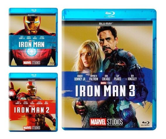 Iron Man 1 2 3 Trilogia Marvel Paquete Pelicula Blu-ray
