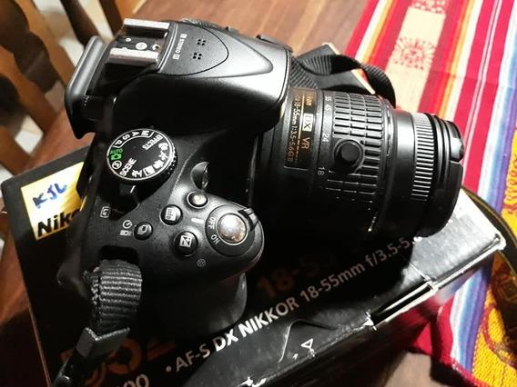 Nikon D5200 Kit18-55vr + Memo 16gb Clase10