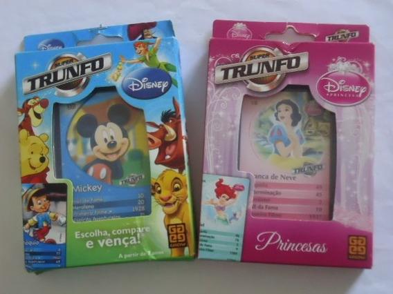 2 Jogos De Cartas Trunfo = Disney Princesa + Mickey