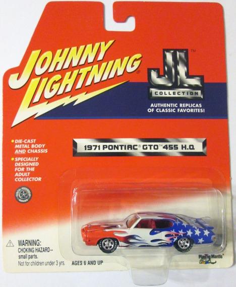 Johnny Lightning 1971 Pontiac Gto Ruedas De Goma Escala 1/64