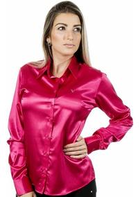 Blusas Cetim - Blusa Social Várias Cores Pimenta Rosada