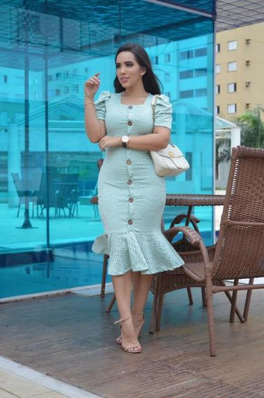 Vestido Tubinho Em Leze Moda Evangelica