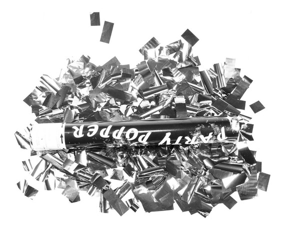 20 Bazucas Cañon Lanza Confeti Metalico Batucada 30cm N18