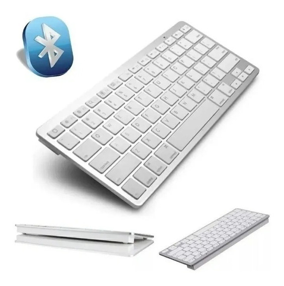 Teclado Bluetooth Sem Fio Padrão Apple iMac iPad Pc Wireless