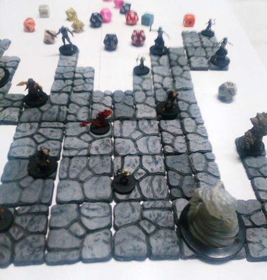 25mm Dungeon Piso Bases Miniatura Quadrado Pedras Dungeon Tiles Frontline Jogos