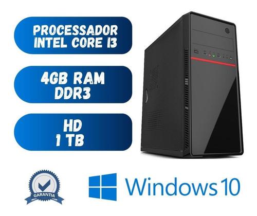 Imagem 1 de 2 de Computador Cpu Desktop Pc Core I3 4gb Hd 1tb Win10 Hdmi Dvd