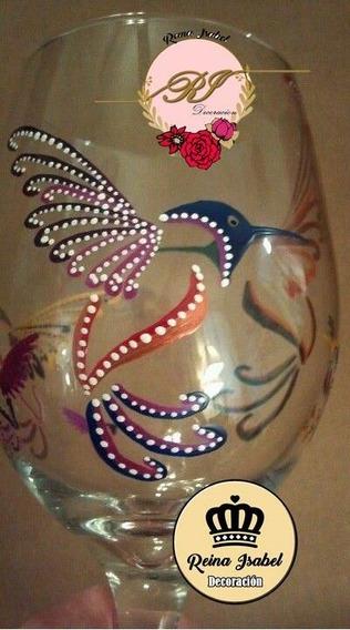 Copon Pintado Pajaro Colibri Animal Centro De Mesa Souvenirs