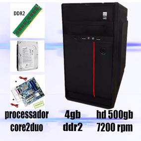 Computador Core2duo + 4gb Ram + Hd500gb Promoção