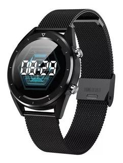 No.1 Dt28 Smartwatch Relógio Nº 1 Bluetooth Aço E Couro - Batimento Cardíaco, Eletrocardiograma Ecg + Top Q K88h Q8 Q9