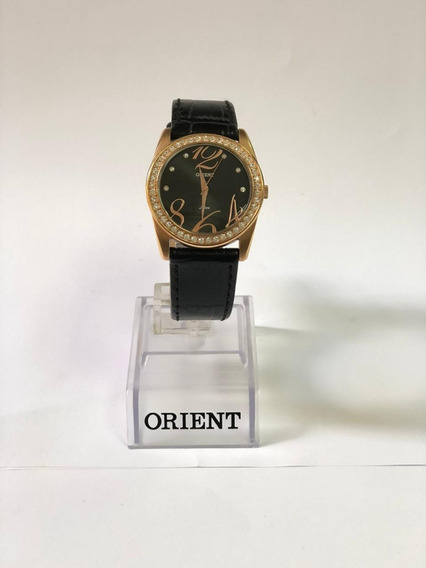 Relógio Feminino Orient Rose Gold Pulseira De Couro Fgsc0007