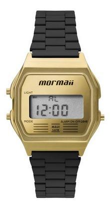 Relógio Mormaii Vintage Dourado E Preto Feminino Mojh02ak/4d