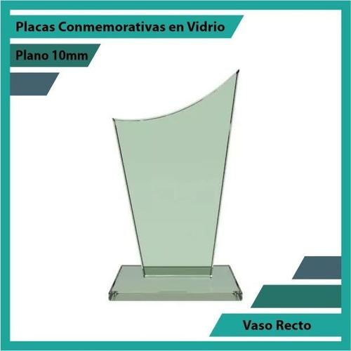 Placa De Vidrio Referencia Vaso Recto Pulido Plano 10mm
