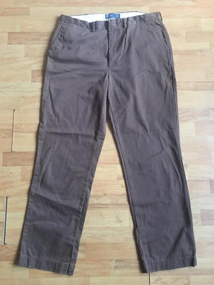 Pantalon De Algodon Polo Ralph Lauren Cafe Original 38 X 34