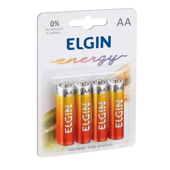 Pilha Zinco-carvão Aa Elgin 1.5v Blister C4