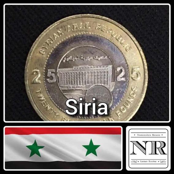 Siria - 25 Libras - 2003 - Bimetalica - Km # 131 - Edificio