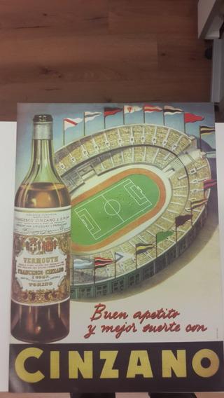 Poster Publicidad Cinzano Futbol