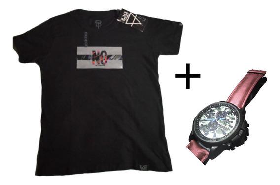 Kit Relógio + Camiseta Original Top