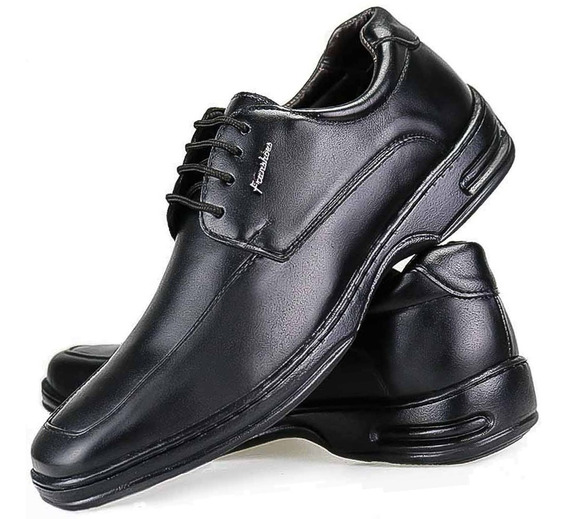 Sapato Social Masculin Ortopedico Anti Stress Palmilha Macia