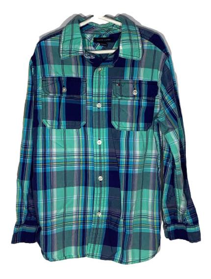 W Camisa M Tommy Hilfiger Id C451 U Detalle Niño Remate!