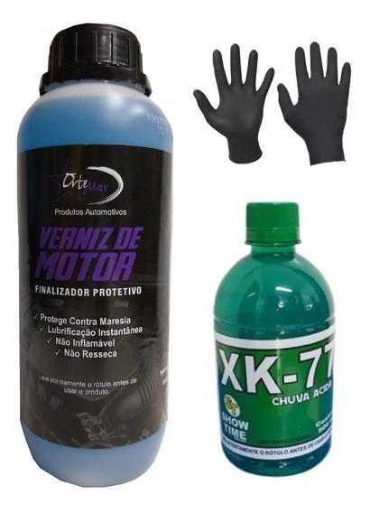 Removedor Chuva Acida Xk 77 500ml + Verniz De Motor 01l