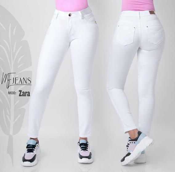 Jeans Mf Zara Blanco By Fergino Corte Colombiano Push Up