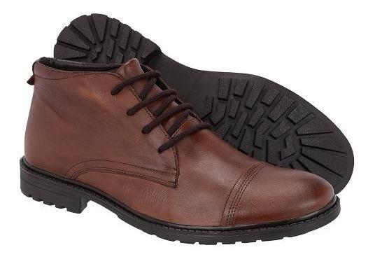 Sapato Social Oxford Masculino Cano Alto Couro Legítimo