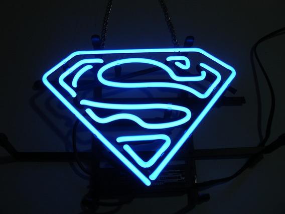 = Neon Super Man Único No Brasil, Luminoso Acende Pimball