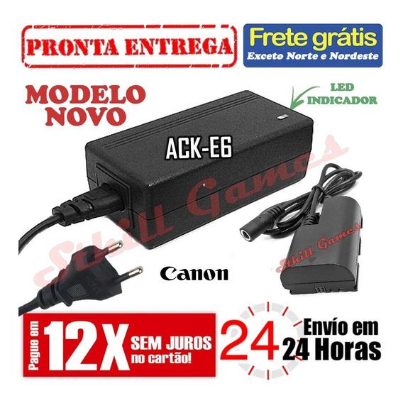 Fonte Ack-e6 Adaptador Ac Para Canon 60d 70d 6d 7d 5d Markii