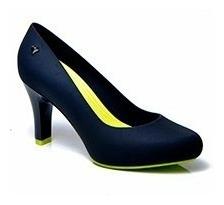 Sapato Scarpin Lais Romani Bia Vinho/dove E Preto/lima