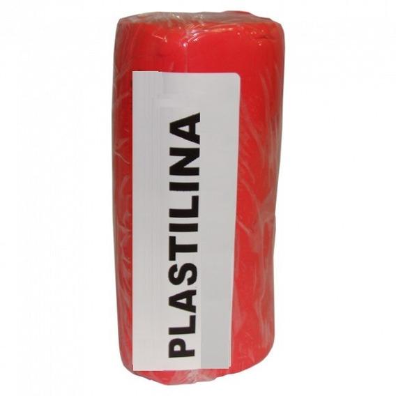 Massa De Modelar Tipo Clay Plastilina Vermelha Caixa 500 G